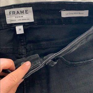 Women's black denim skinny jeans